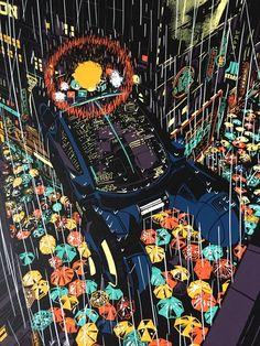 Spinner Raid71 Chris Thornley Poster Blade Runner Harrison Ford Pan Am Ridley