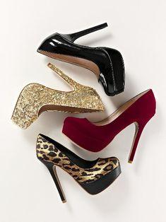 Heels & Pumps: Women's Designer Pumps, High Heels & Platforms from Victoria's Secret Pump Shoes, Shoe Boots, Shoes Heels, Crazy Shoes, Me Too Shoes, Jimmy Choo, Prada, Christian Louboutin, Shoe Wardrobe