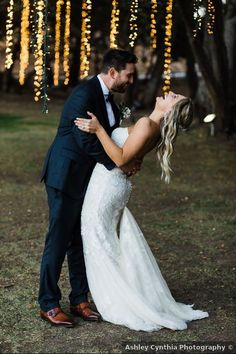 Wedding photography inspiration, hanging string lights, romantic lighting ideas