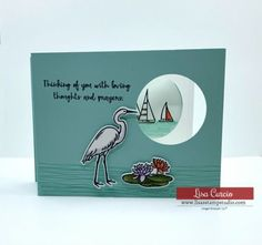 Slider Card Fun Fold by - Cards and Paper Crafts at Splitcoaststampers Handmade Greetings, Greeting Cards Handmade, Slider Cards, Love Thoughts, Interactive Cards, Photo Tutorial, Homemade Cards, Sliders, Hand Stamped
