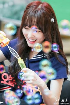 Gfriend - Yuju ☆ Play the bubble ! Kpop Girl Groups, Korean Girl Groups, Kpop Girls, K Pop, Gfriend Yuju, Gfriend Album, G Friend, Entertainment, I Love Girls