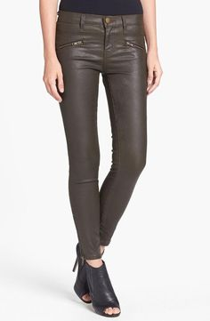 Yes! Current/Elliott Olive Coated Skinny Jeans