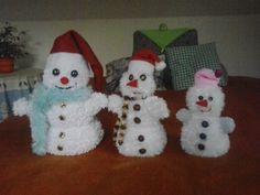 Veselí sněhuláčci - pletení