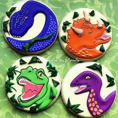 Here all the #dinosaurs #cookiefavors for a... - NY Cookies By Victoria