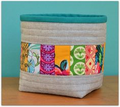 At just 4 1/2″ square and 5″ high, this basket is small but mighty! It is the perfect size for catching your loose threads as you sew, and the duck canvas underlining makes it su…