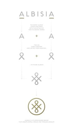 Corporate identity for a Florida based jewelry brand, Albisia.                                                                                                                                                     More