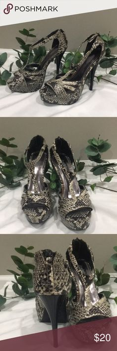 Amazing condition Charlotte Russe high heels Amazing condition. No scuffs, no tears,no rips. Charlotte Russe Shoes Heels