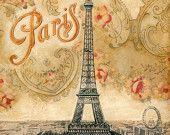 "Paris Postmark , Eiffel Tower 11""x 14"". $11.99, via Etsy."
