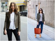 Refresh your wardrobe for fall by wearing an edgy jacket with your spring/summer clothes