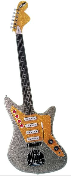 DiPinto Galaxie 4 - Los Straitjackets Electric Guitar Silver Sparkle | Musician's Friend