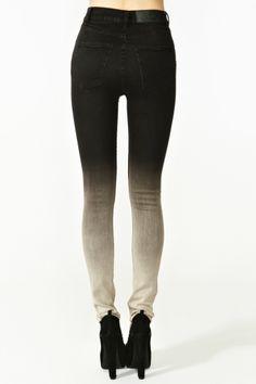 Second Skin Jeans - Ombre Emo Scene, Cheap Skinny Jeans, Alternative Fashion, Alternative Rock, Dye Jeans, Women's Jeans, Second Skin, Beadboard Backsplash, Backsplash Ideas