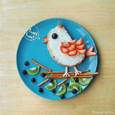 Desayuno divertido_Pájaro