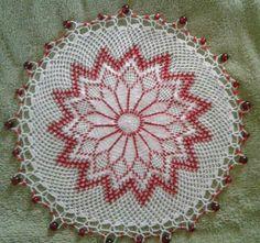 Beaded milk jar doilie Doilies Crochet, Milk Jug, Home Made Soap, Crocheting, Beading, Crochet Patterns, Jewelry Making, Christmas Tree, Jar