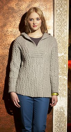 Ravelry: Hooded Cabled Tunic pattern by Debbie Bliss
