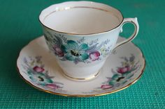 COLCLOUGH CHINA, PINK  FLORAL SCALLOPED Pattern: 6632