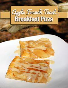 Apple French Toast Breakfast Pizza Recipe - Homemaking Hacks