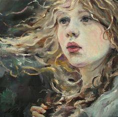 """Portrait Original Oil 6""""x6""""x1 5' OOAK by Moonglance   eBay"""