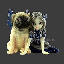 *PUG PIXIE* Fairy & Her Dog Strangeling Art Figurine By Jasmine Becket-Griffith