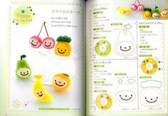 Pom Pom Fruits - Easy and Cute Pom Pom Craft for Kids. I Can Do It by myself - Japanese Craft Book by pomadour24