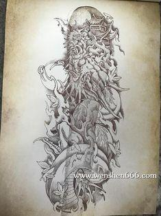 Japan Tattoo, Desenho Tattoo, Chinese Dragon, Irezumi, Lion Tattoo, Compass Tattoo, Fabric Painting, Tattoo Studio, Drawing Reference