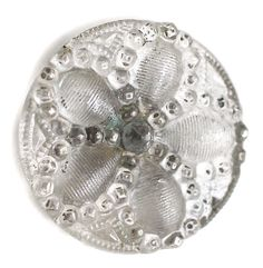 Old Lacy Glass Button - Small by KPHoppe on Etsy