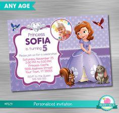 Sofia de eerste uitnodiging Print zelf prinses verjaardag