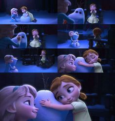 """Hi I'm Olaf! And I like warm hugs!""  - ""I LOVE YOU OLAF!!!!!!"" ✨⛄"