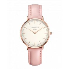Rose gold ladies watch Tribeca - pink leather strap | ROSEFIELD Watches