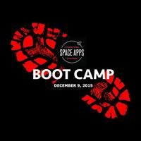 You're invited to Space Apps Boot Camp/Boot Camp Brevard! Come join us Wednesday, December 9 from 6 until 8:30 PM at the Florida Tech Research Park, 1050 NASA Blvd, Melbourne, Fl 32901. Find out how you can involved in solving problems that face our entire world! http://www.eventbrite.com/e/nasa-space-apps-boot-camp-boot-camp-brevard-tickets-19459076622