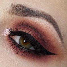 red brown makeup look