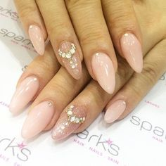 Princess tiara nails by Minako @sparks_minako - We finally got nail resin so your gems will last as long as your mani! (no covering those babies @oneandonlyvava ) by sparkssalons