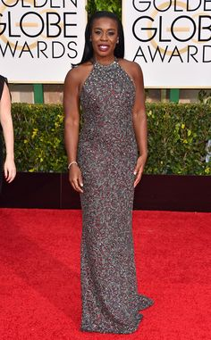 Uzo Aduba from 2015 Golden Globes Red Carpet Arrivals  In Randi Rahm. Another One of My Personal Favorites