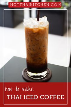 Dark, creamy, and delicious. This authentic Thai iced coffee recipe will take you right to the streets of Thailand. This Thai drinks recipe comes with a full video tutorial that will show you a step by step instruction.|how to make Thai iced coffee| Authentic Thai drink recipe |iced coffee recipe Easy Asian Recipes, Thai Recipes, Drink Recipes, Dessert Recipes, Espresso Recipes, Coffee Recipes, Thai Iced Coffee, Cappuccino Recipe, Thai Street Food