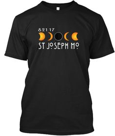 Missouri Total Solar Eclipse 08.21.2017 Black T-Shirt Front