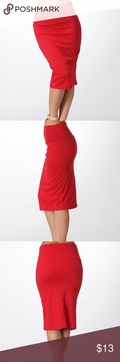 HOST PICKRED HOT PENCIL SKIRT ✨Red hot Pencil Skirt✨ 95% Polyester 5% Spandex Ships 1-2 business day, I AM A FAST SHIPPER  YES, these are the real pictures of the item  Sizes available in REGULAR AND PLUS BRAND NEW merchandise only  MADE IN USA!  Add it to bundle to save more  Skirts Maxi