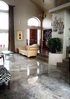 metallic epoxy kitchen floor *this floor for new coffee shop