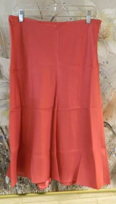 NWT ANN TAYLOR SZ 10 BRIGHT SALMON SKIRT FOLDED IN SHIPPING ENVELOPE MSRP 128. #AnnTaylor #ALine