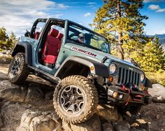 Built to be tougher and bolder than the boulders it beats, this radical incarnation of Jeep Wrangler Rubicon takes command of all trails with authentic confidence. After a decade of winning accolades, awards, and respect, the Jeep Wrangler Rubicon 10th Anniversary Edition arrives with unique features designed to thrill hard-core fans. Source: Jeep.com