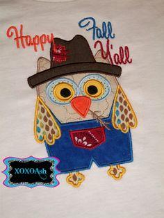 Happy Fall Yall Scarecrow Owl @kelley