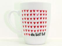 Tasse mit Spruch die 1000 Herz Tasse,Love Tasse