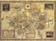 For all things Tolkien, Lord of The Rings, and The Hobbit . Fellowship Of The Ring, Lord Of The Rings, Fantasy Map, Fantasy World, Tolkien Map, Mines Of Moria, Middle Earth Map, The Middle, Rpg Map