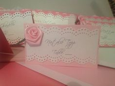 DIY escort cards :  wedding diy escort name cards pink rose Escort2