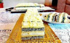 Vanília krèmmel töltött mákos sütemèny - Ez Szuper Cheesecake, Dairy, Foods, Food Food, Food Items, Cheese Cakes, Cheesecakes