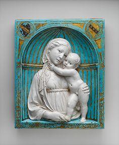 Virgin and Child in a Niche Luca della Robbia (Italian, 1399/1400–1482 Florence) ca. 1460 Date: ca. 1460 #TuscanyAgriturismoGiratola