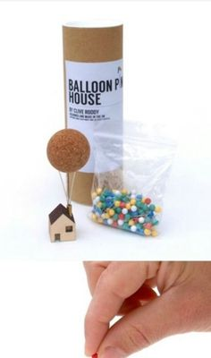 Whether you need to pin up a pin-up, or drop a pin on a map, the Balloon Pin House provides an enchanting place for you to store your map or noticeboard pins. Balloon House, The Balloon, Up House Pixar, Plywood House, Balloon Clusters, Pin Up, Diy And Crafts, Arts And Crafts, Pin Cushions