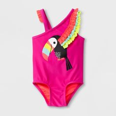 5e0a839025fa9 Toddler Girls  Toucan One Piece Swimsuit - Cat   Jack™ Pink