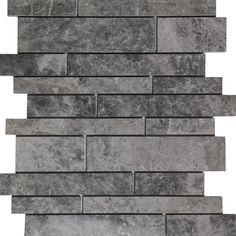 Waterfall mosaic Cosmos grey marble polished wall floor tile kitchen backsplash bathroom wall floor luxury stone by medusa tile