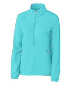 Take a look at this Turquoise Jackie Three-Quarter Zip Long-Sleeve Top - Plus Too today!