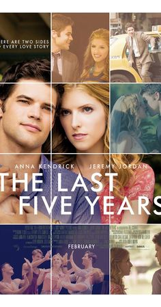 Directed by Richard LaGravenese. With Anna Kendrick, Meg Hudson, Jeremy Jordan, Natalie Knepp. Based on the musical, a struggling actress and her novelist lover each illustrate the struggle and deconstruction of their love affair.