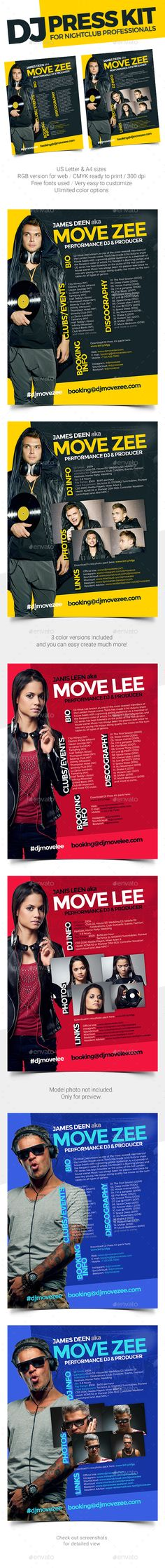 Groove - DJ Press Kit \/ Resume PSD Template Press kit, Resume - dj resume